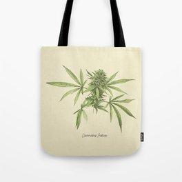 Vintage botanical print - Cannabis Tote Bag