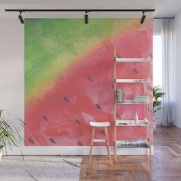 Refreshing Watercolor Watermelon Wall Mural