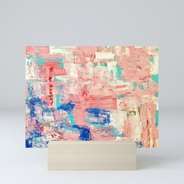 Contemporary Palette Knife Abstract Plaid 5 Mini Art Print