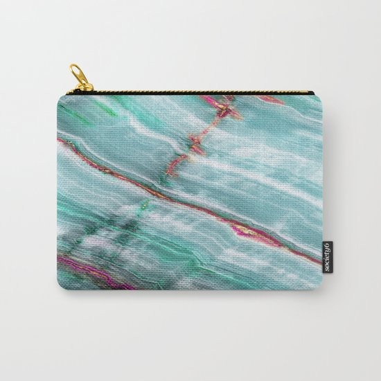Jade Mint Marble Paint Abstract  Carry-All Pouch