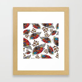 Psychedelic eye Framed Art Print
