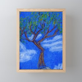 REALLY Blue Bonsai Framed Mini Art Print