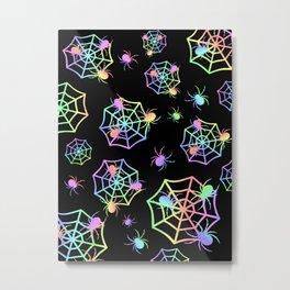 Pastel Spider Webs Metal Print