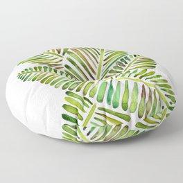 Tropical Banana Leaves – Green Palette Floor Pillow