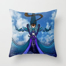 Starry Cerulean Skies Throw Pillow