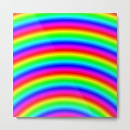 Psychedelic Neon Rainbow Metal Print