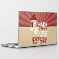 ohana Laptop & iPad Skins featuring Ohana Means Family - Lilo & Stitch by Crafts and Dogs