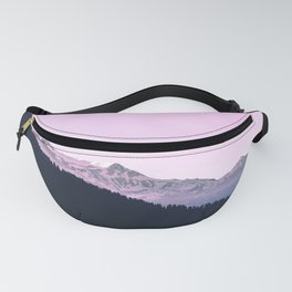 Mountain Forest Sky Pink Pastel Fanny Pack