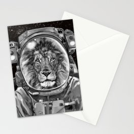 Astronaut Lion King Selfie Stationery Cards