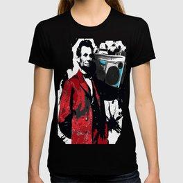 ABRAHAM LINCOLN INK SPLASH RED MAKE MUSIC NOT WAR T-shirt