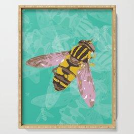 Hoverfly vector illustration Serving Tray
