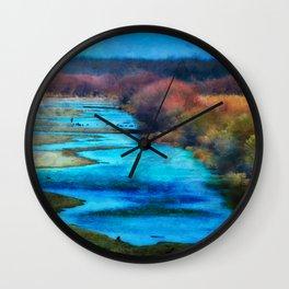 Monet's Rio Las Cruces New Mexico Wall Clock