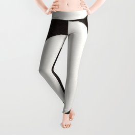 Enzo Zen Ink Painting Circle in Black and White Leggings