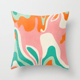 psychedelic fleurs Throw Pillow