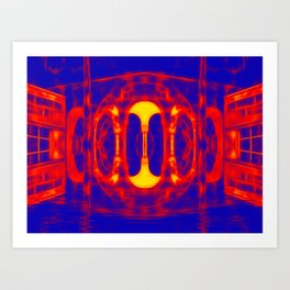 Fiery portal of our nightmares Art Print