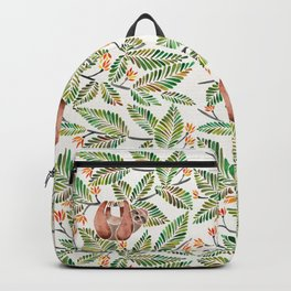 Happy Sloth – Tropical Green Rainforest Backpack