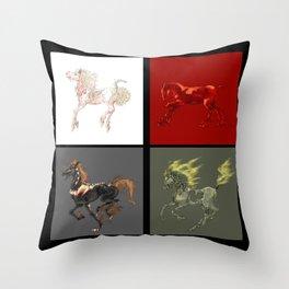 The Big Four Throw Pillow
