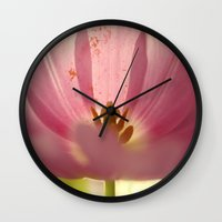 tulip Wall Clocks featuring Tulip by Lena Weiss