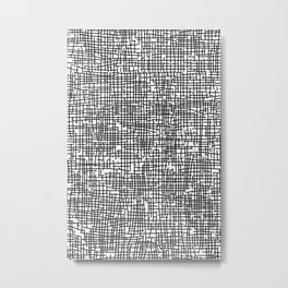 Crosshatch Metal Print