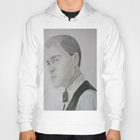 gatsby Hoodies featuring Jay Gatsby - Leonardo DiCaprio by Moira Sweeney