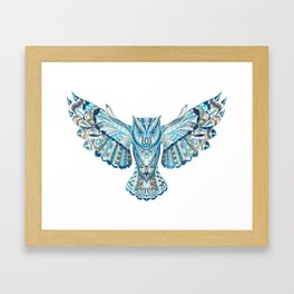 Flying Colorful Owl Design Framed Art Print