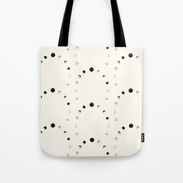 Moon Phase Pattern Tote Bag