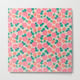 Floral Brushes pattern Metal Print