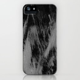 Gray black watercolor brushstrokes abstract pattern iPhone Case