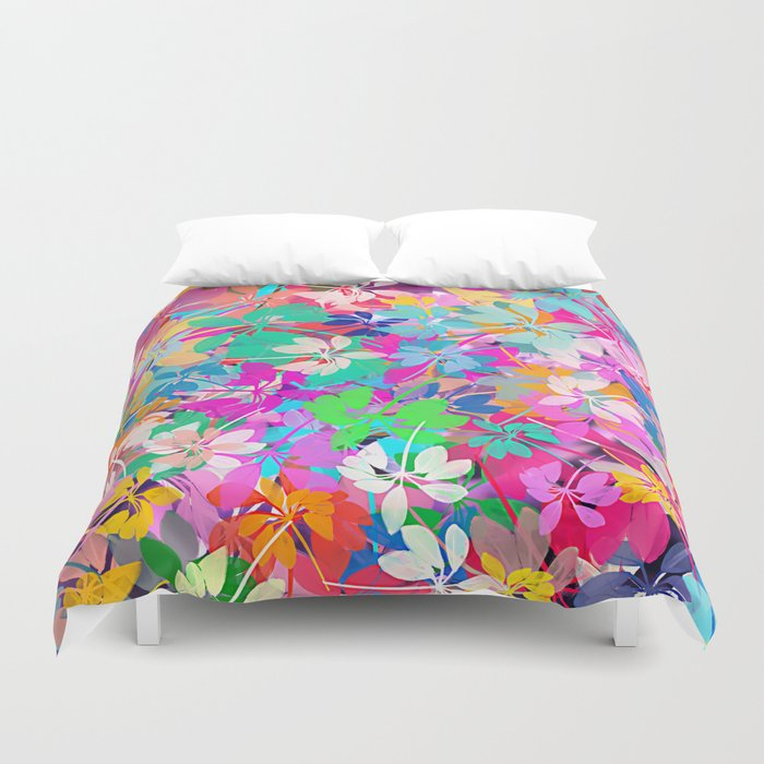Floral abstract 47 Duvet Cover