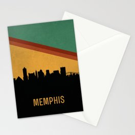 Memphis Skyline Stationery Cards