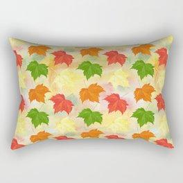 watercolor autumn leaves Rectangular Pillow