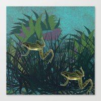 frog Canvas Prints featuring frog by giancarlo lunardon