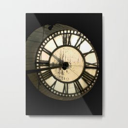 Clock Face 2, North Adams Metal Print