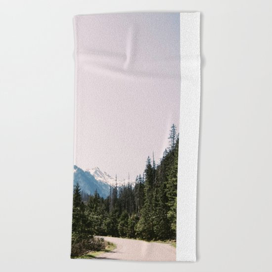 Mountain Landscape with Road Beach Towel