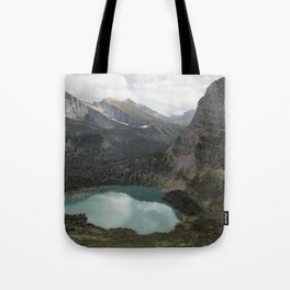 Grinnell Lake from the Trail No. 2 - Glacier NP Tote Bag