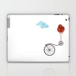 Farthing bike with balloons Laptop & iPad Skin