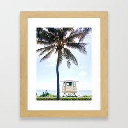 Palm Beach lifeguard Framed Art Print