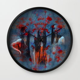 Abstract three women Wall Clock