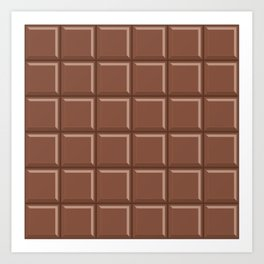 Chocolate Candy Bar Art Print