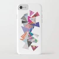 triangles iPhone & iPod Cases featuring Triangles by Lydia Coventry