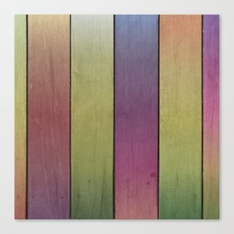 Wood Plank Colormix Canvas Print