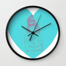 """Noklai Fruita, The Storks"" Nikolai Fraiture / The Strokes Pink&Blue Wall Clock"
