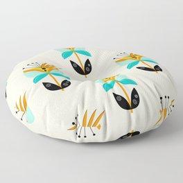 Abstract Flower Floor Pillow