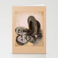 jared leto Stationery Cards featuring Jared Leto and Ripley the monkey by Jenn
