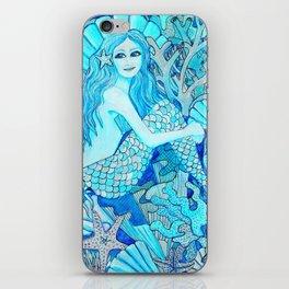 Mermaid Watercolor Coral Reef iPhone Skin