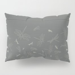 Dragonfly Pattern on Warm Grey Pillow Sham