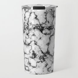 Black and White Stone Travel Mug