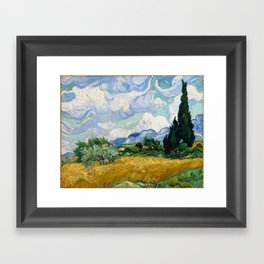 Vincent Van Gogh Wheat Field With Cypresses Framed Art Print