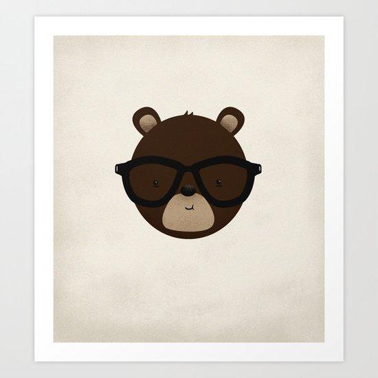 Bear Buddy Art Print