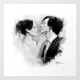 Sherlock & Irene Art Print